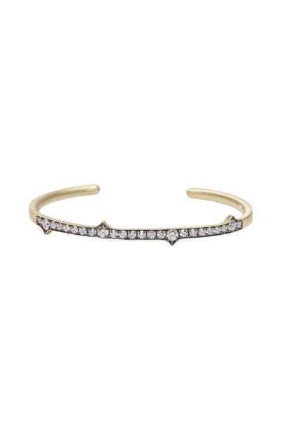 Sylva & Cie - 18K Yellow Gold Diamond Cuff