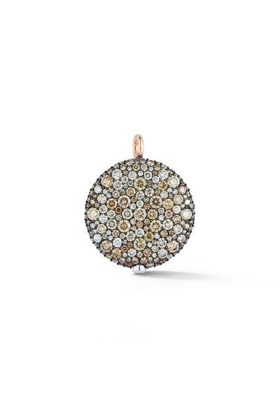 Walters Faith - White & Rose Gold Diamond Pebble Pendant