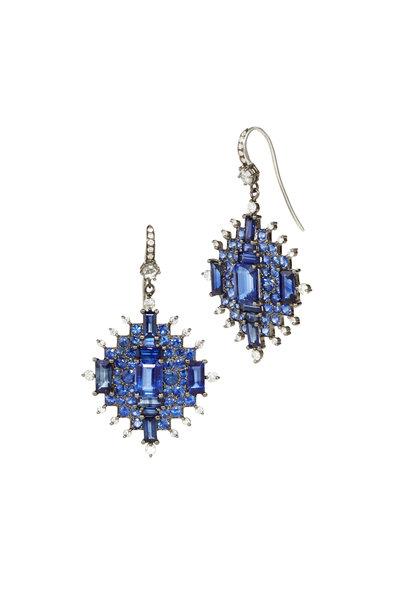 Nam Cho - White Gold Sapphire & Kyanite Diamond Earrings