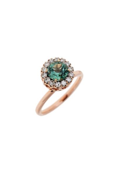 Selim Mouzannar - Green Tourmaline & Diamond Ring