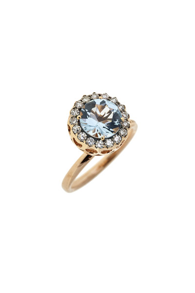 Selim Mouzannar - Aquamarine & Diamond Ring