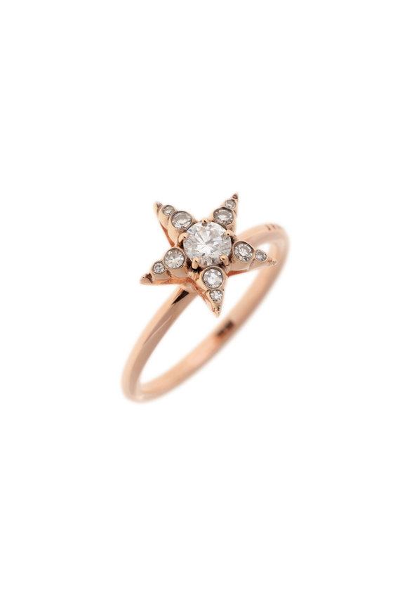 Selim Mouzannar Rose Gold Diamond Star Ring