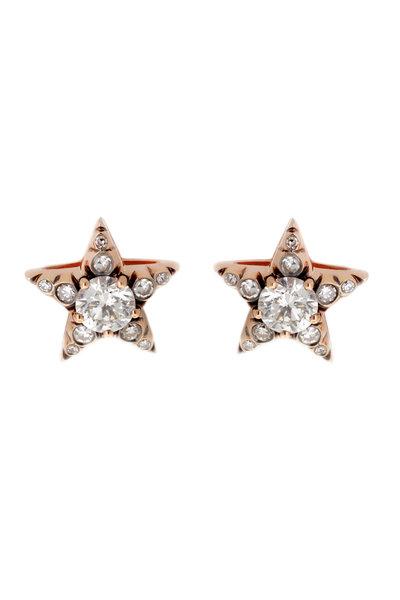 Selim Mouzannar - Rose Gold Diamond Star Studs
