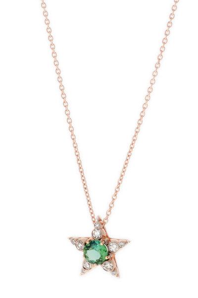 Selim Mouzannar - Mint Green Tourmaline & Diamond Star Pendant
