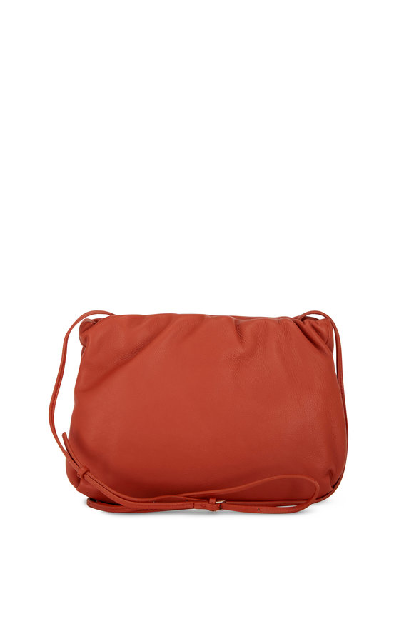 The Row Bourse Brick Leather Small Clutch