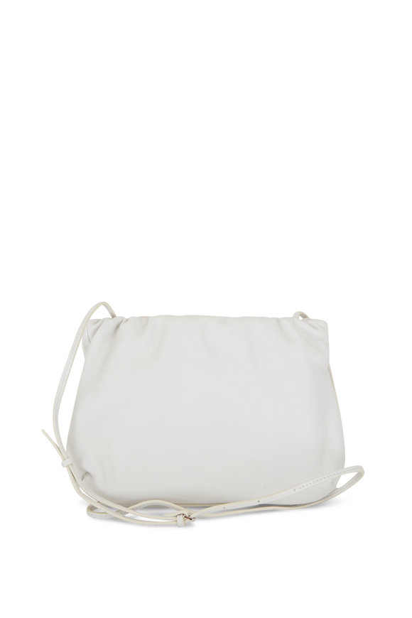 The Row Bourse White Leather Small Clutch