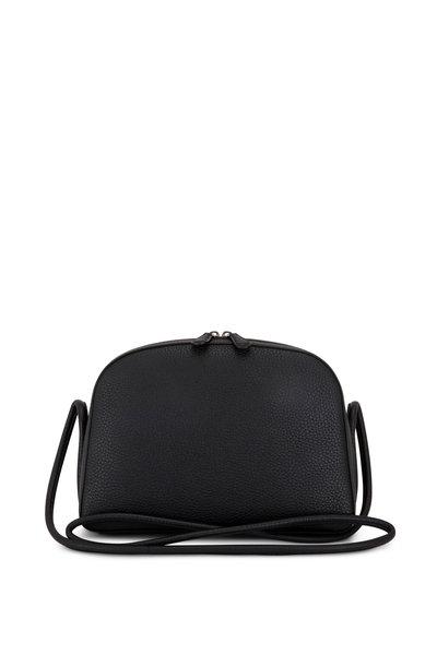 The Row - Mignon Black Grained Leather Crossbody Bag