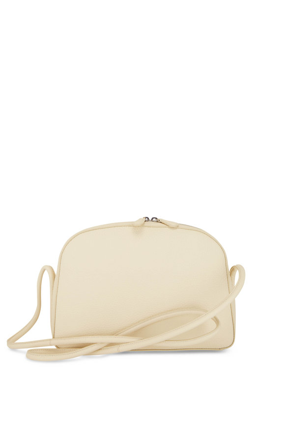 The Row Mignon Oyster Grained Leather Crossbody Bag