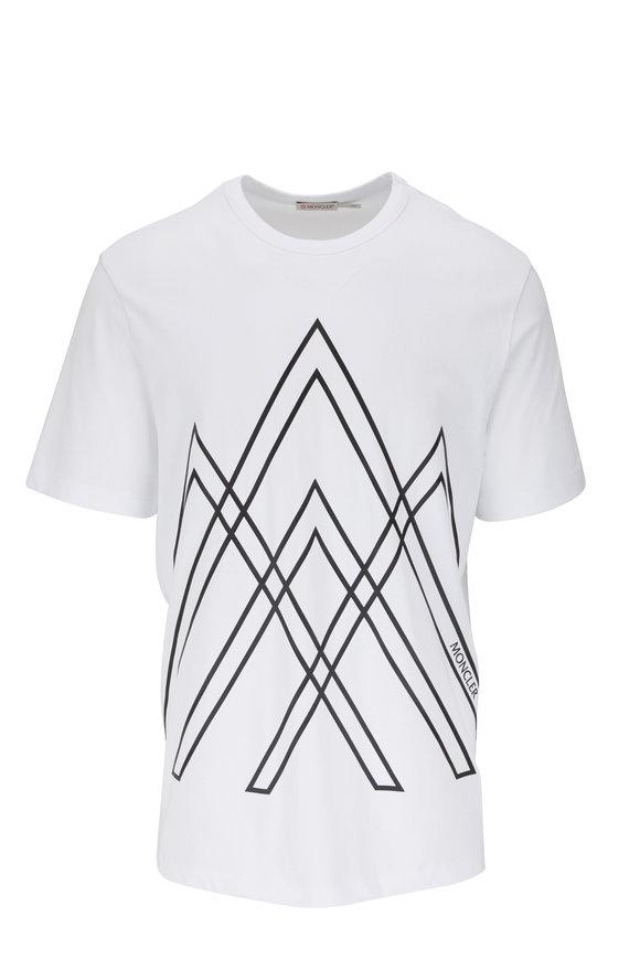 Moncler White & Black Graphic T-Shirt