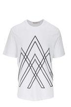 Moncler - White & Black Graphic T-Shirt