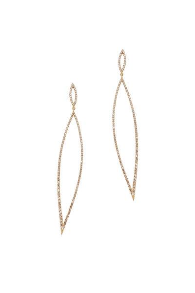 Loriann - 18K Gold & Silver Diamond Marquise Earrings