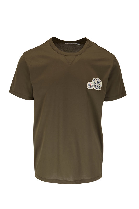 Moncler Olive Double Logo T-Shirt