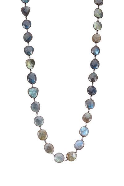 Loriann - Sterling Silver Labradorite Accessory Chain