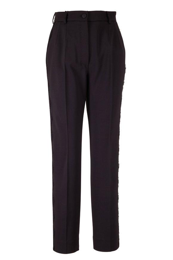 Dolce & Gabbana Black Lace Side Ankle Pant