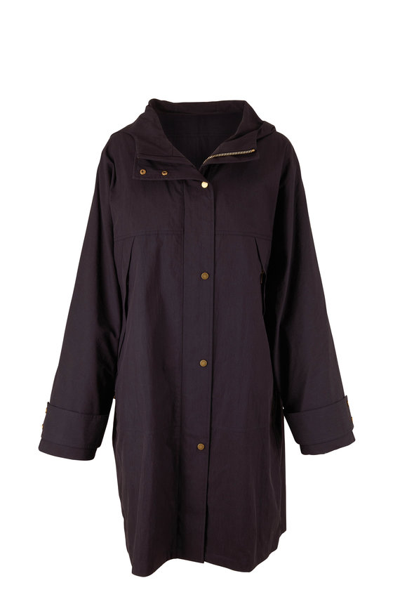 Michael Kors Collection Black Hooded Anorak