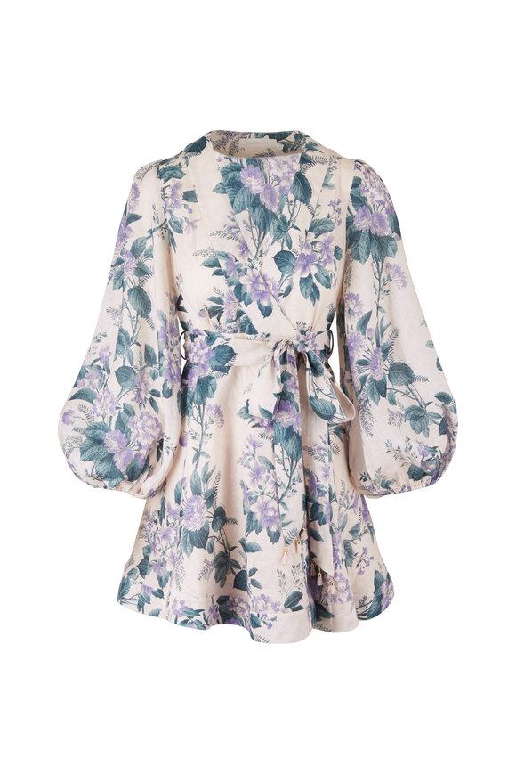 Zimmermann Cassia Floral Billow Sleeve Dress