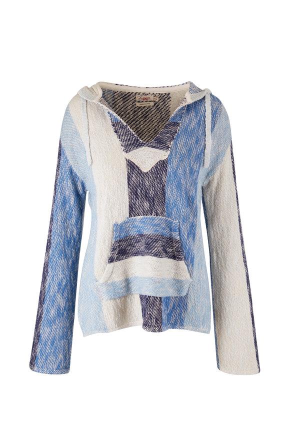 Faherty Brand Baja Blue Sky Poncho Sweater