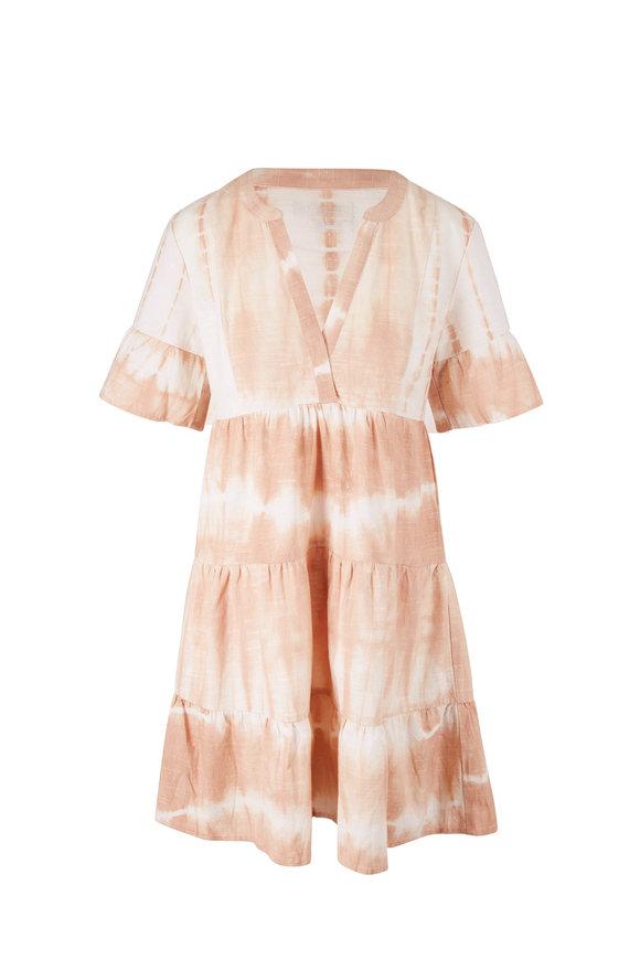 Faherty Brand La Vida Maple Sugar Elbow Sleeve Dress