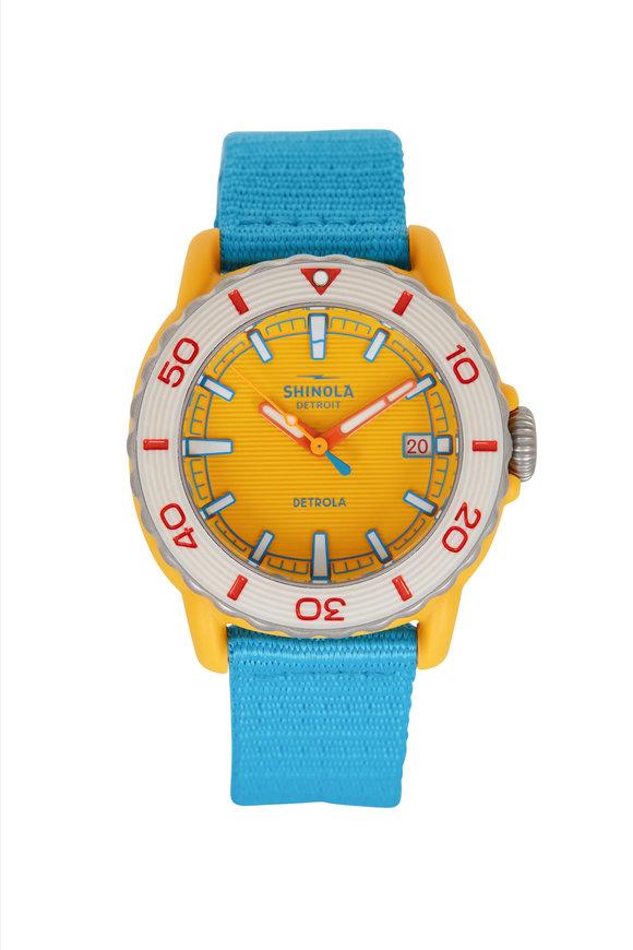 Shinola Sea Creature Light Blue & Yellow Watch, 40mm