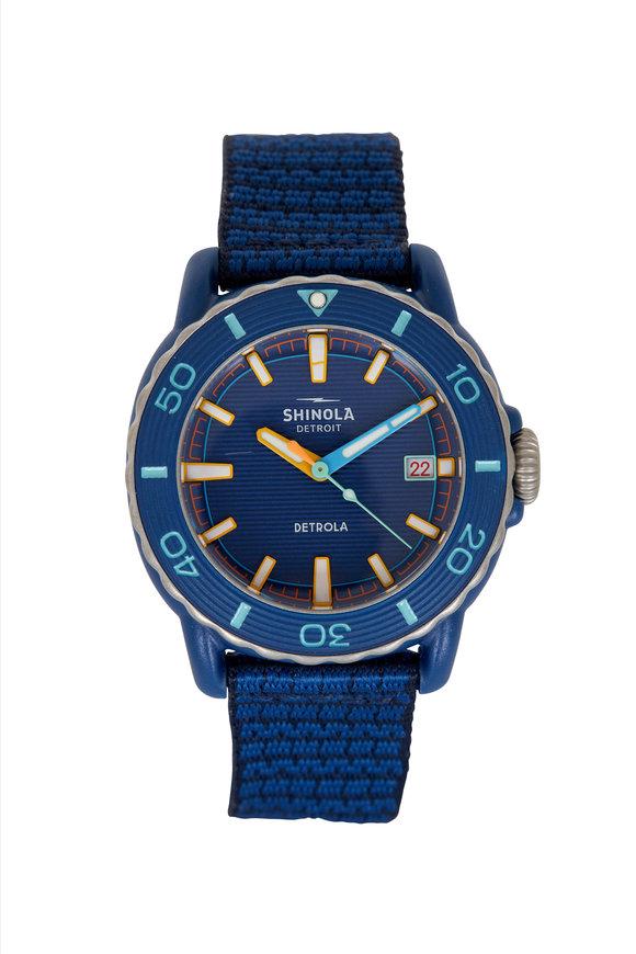 Shinola Sea Creature Blue Watch, 40mm