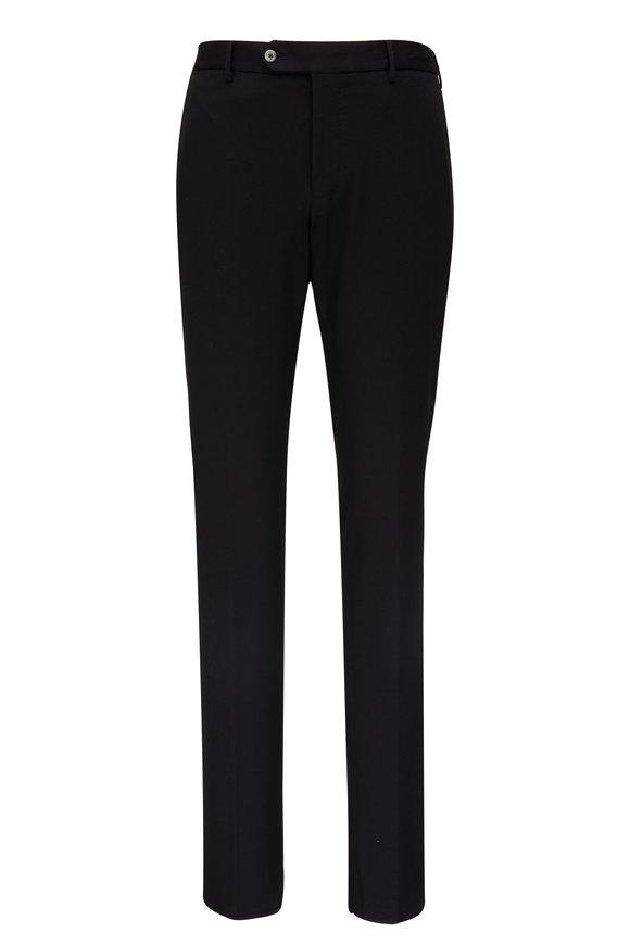 PT Torino Black Stretch Techno Jersey Slim Fit Pant