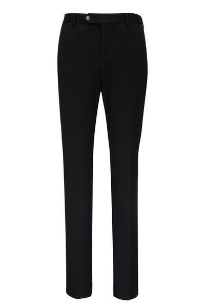 PT Torino - Black Stretch Techno Jersey Slim Fit Pant