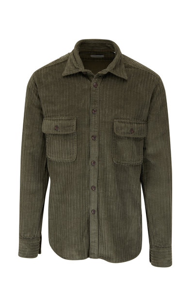 Tintoria - Olive Corduroy Overshirt