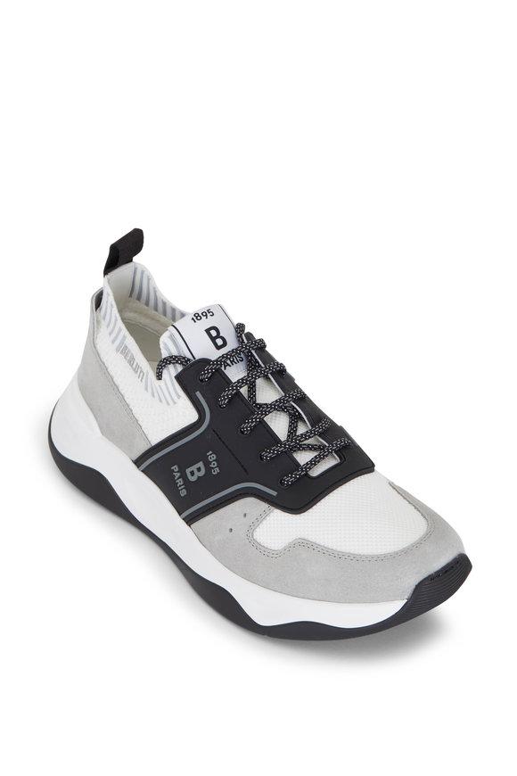 Berluti Shadow 1 Light Gray Knit Sneaker