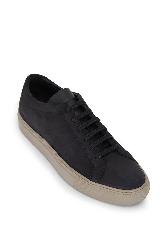 Common Projects Achilles Black Nubuck Low Top Sneaker