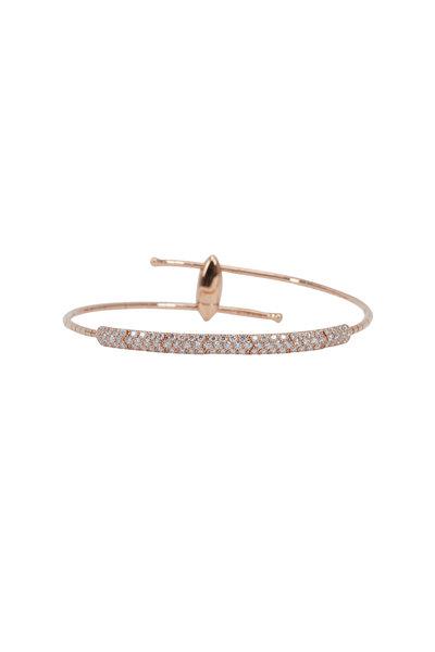 Mattia Cielo - 18K Rose Gold Diamond Coil Bracelet