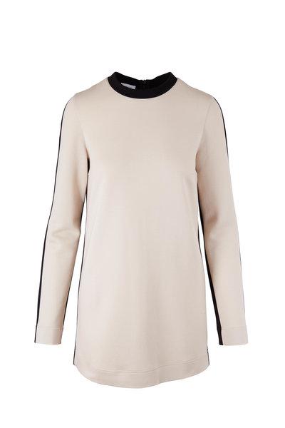 Akris Punto - Chalk & Back Bi-Color Jersey Tunic