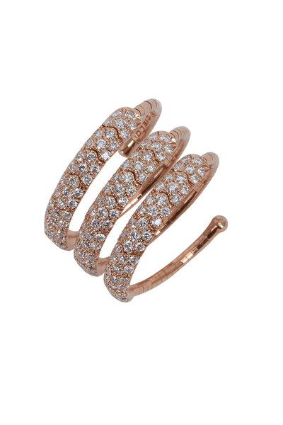 Mattia Cielo - Pink Gold Diamond Coil Ring
