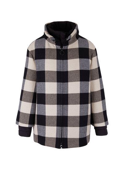 Akris Punto - Chalk & Black Check 2-In-1 Coat