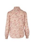 Saint Laurent - Nude Rose Floral Silk Blouse