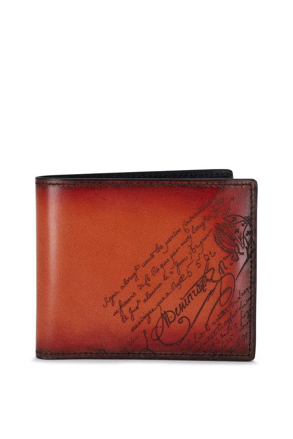 Berluti Makore Slim Scritto Leather Wallet
