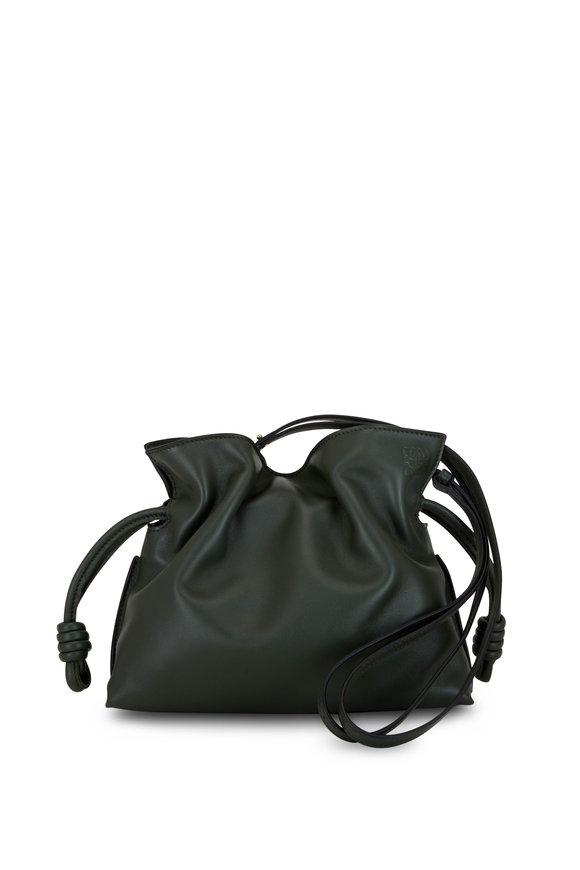 Loewe Flamenco Vintage Khaki Mini Knot Bag