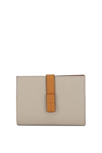 Loewe - Vertical Oat & Tan Leather Medium Wallet