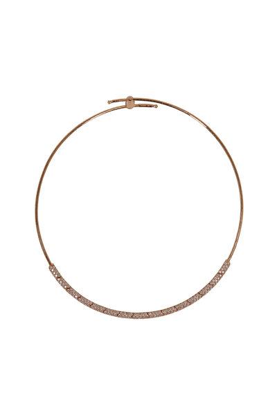 Mattia Cielo - 18K Rose Gold Diamond Rugiada Collar Necklace