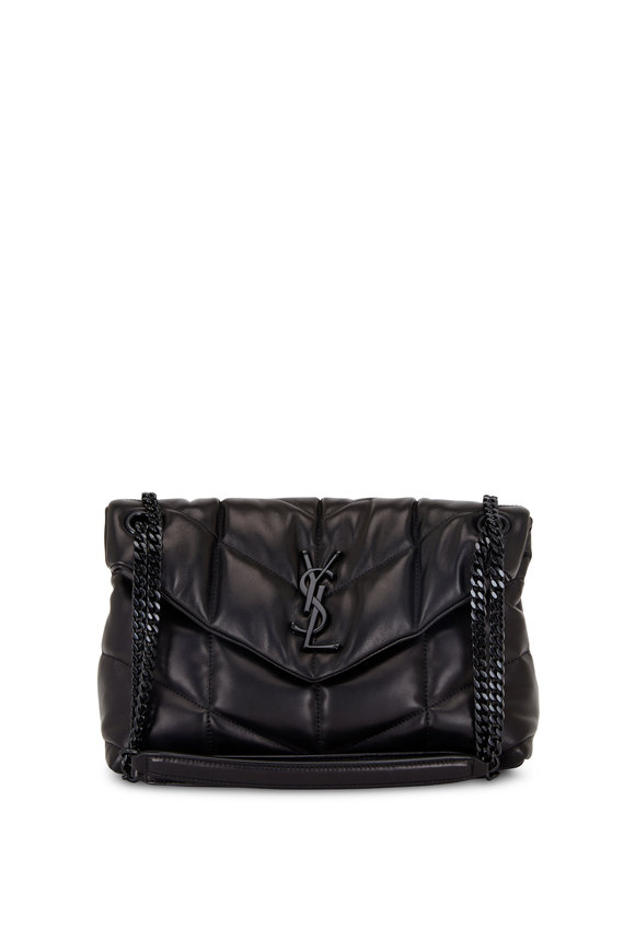 Saint Laurent Loulou Black Quilted Leather Puffer Small Bag