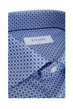 Eton - Light Blue Geo Print Slim Fit Sport Shirt