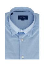 Eton - Light Blue Slim Fit Jersey Sport Shirt