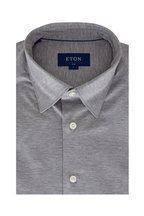 Eton - Light Gray Jersey Slim Fit Sport Shirt