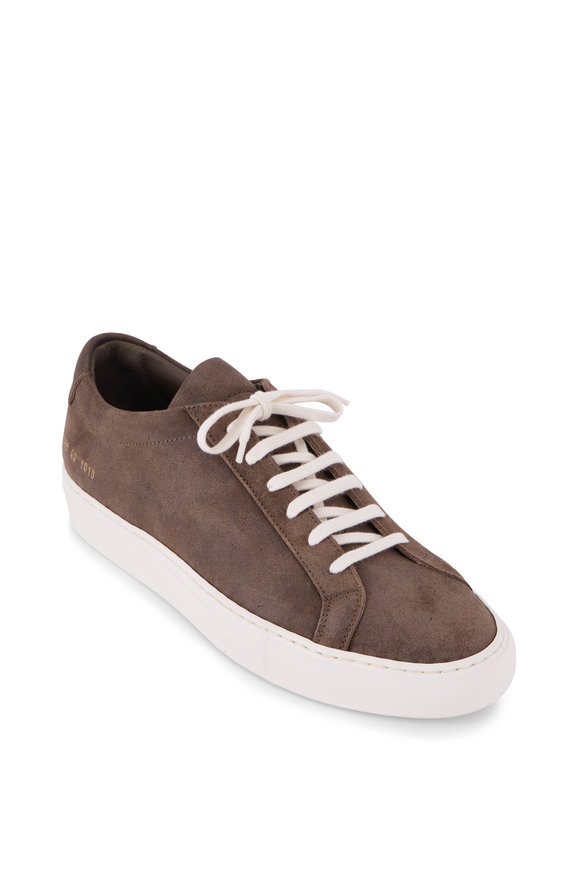 Common Projects Achilles Olive Suede Low Top Sneaker