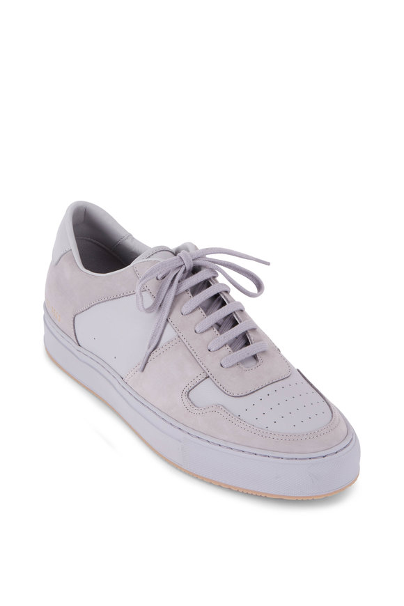 Common Projects BBall Gray Leather Nubuck Sneaker