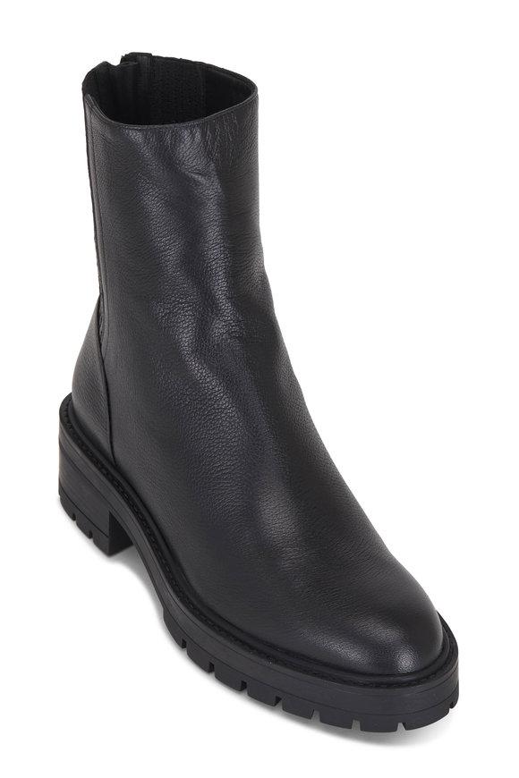 Aquazzura St. Honore Black Leather Combat Boot