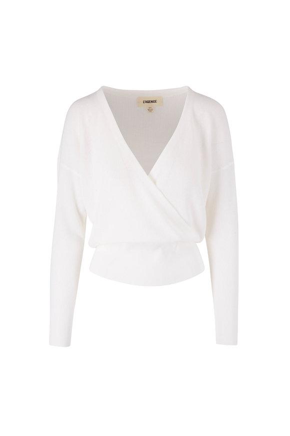 L'Agence Blair Petal Crossover Sweater
