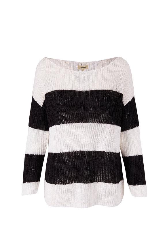 L'Agence Opal Black & White Sweater