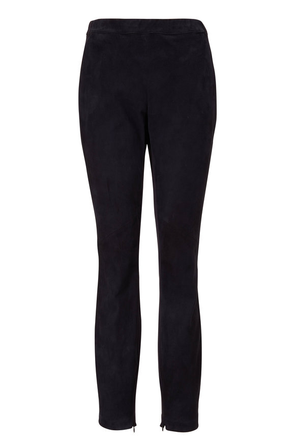 Lafayette 148 New York Murray Ink Suede Skinny Pant