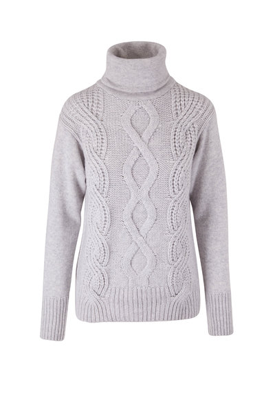 Lafayette 148 New York - Heather Gray Cable Knit Sweater