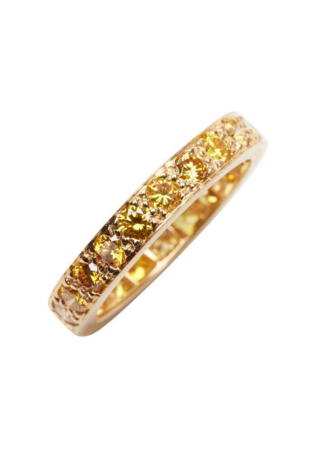 Yellow Gold Fancy Yellow Diamond Guard Ring